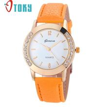 Hot Hothot Sale Quartz Watch Casual Style Women Watches Rhinestone Analog Faux Leather Wrist Watch Women relogio feminino jy28