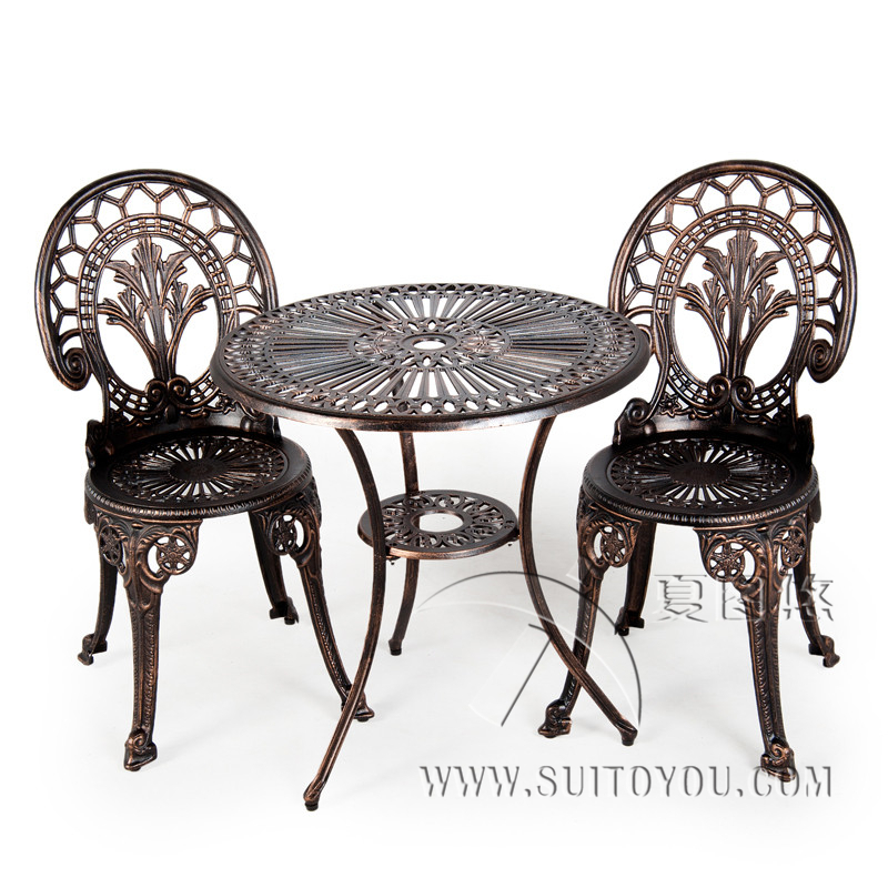 CAST ALUMINIUM GARDEN FURNITURE SET ~~ TABLE AND 2 CHAIRS моторное масло motul garden 4t 10w 30 2 л