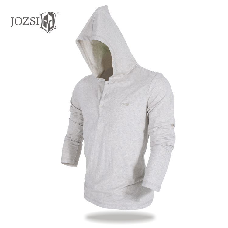 100% Cotton Loose Long-sleeved T-shirt Men Spring Autumn Casual Soild Color Hoodies Top Tee Male C8867