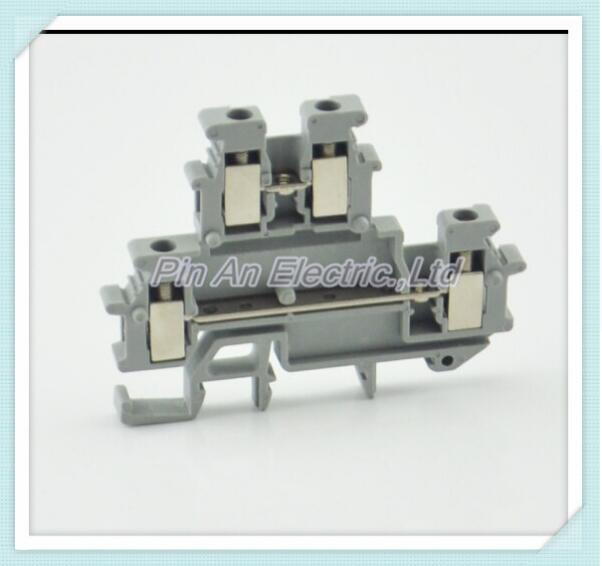50pcs RMBKKB-2.5 double terminal card rail terminal UK terminal