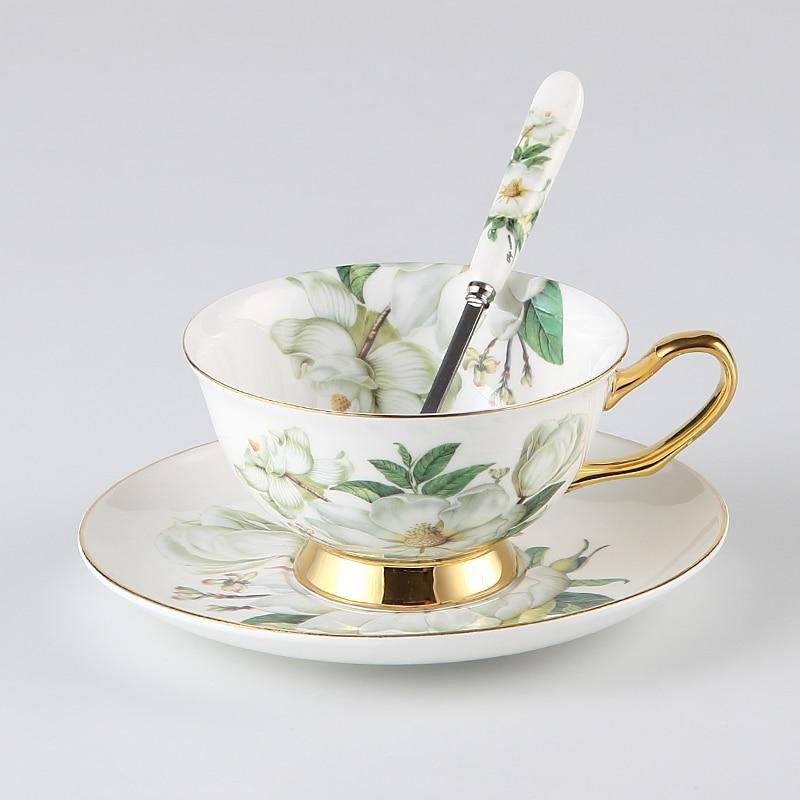 Europa Camellia Bone China Kavos rinkinys Britų porceliano arbatos - Virtuvė, valgomasis ir baras - Nuotrauka 6