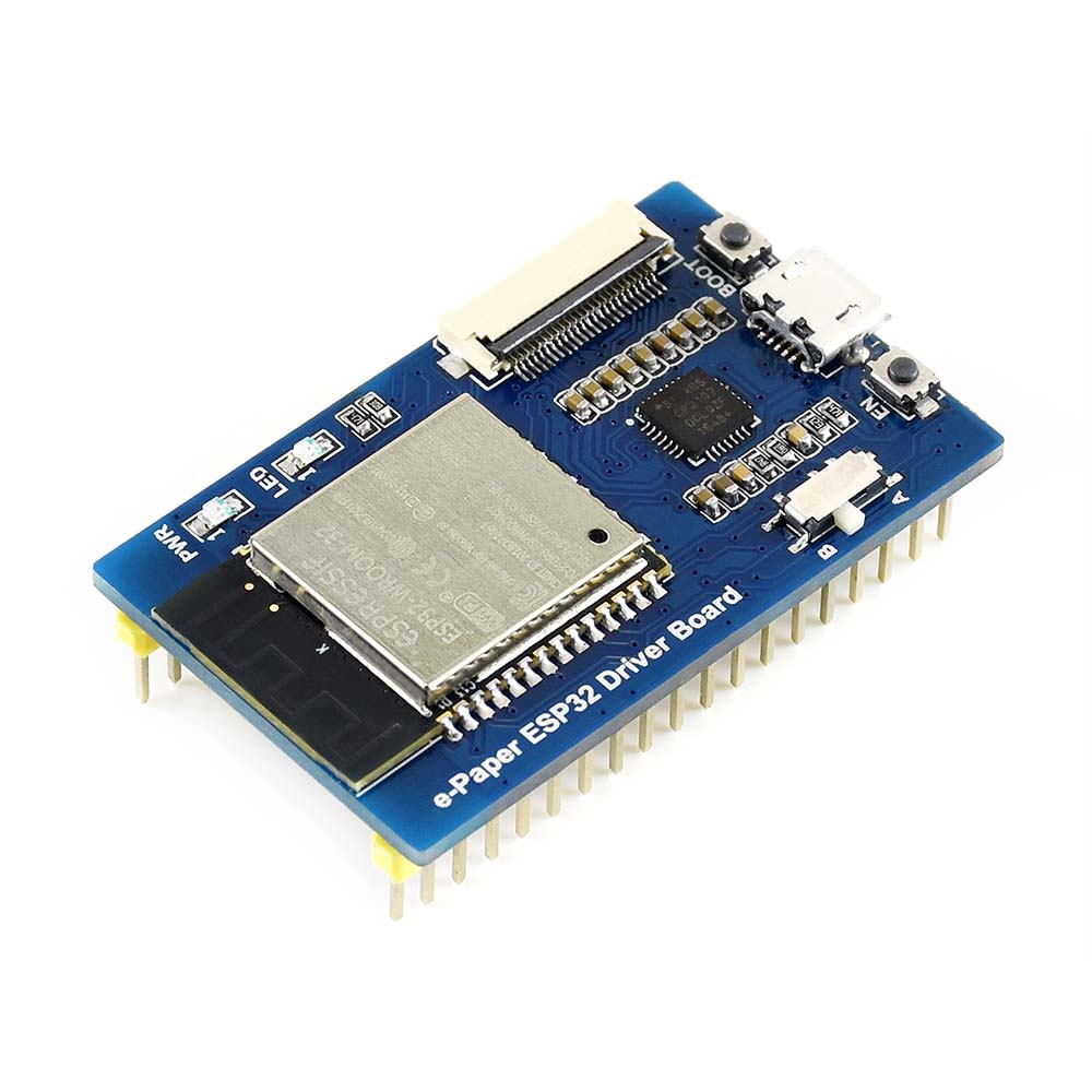 Universal E-Paper Driver Board With WiFi / Bluetooth SoC ESP32 Onboard, Supports Various Waveshare SPI E-Paper Raw Panels .