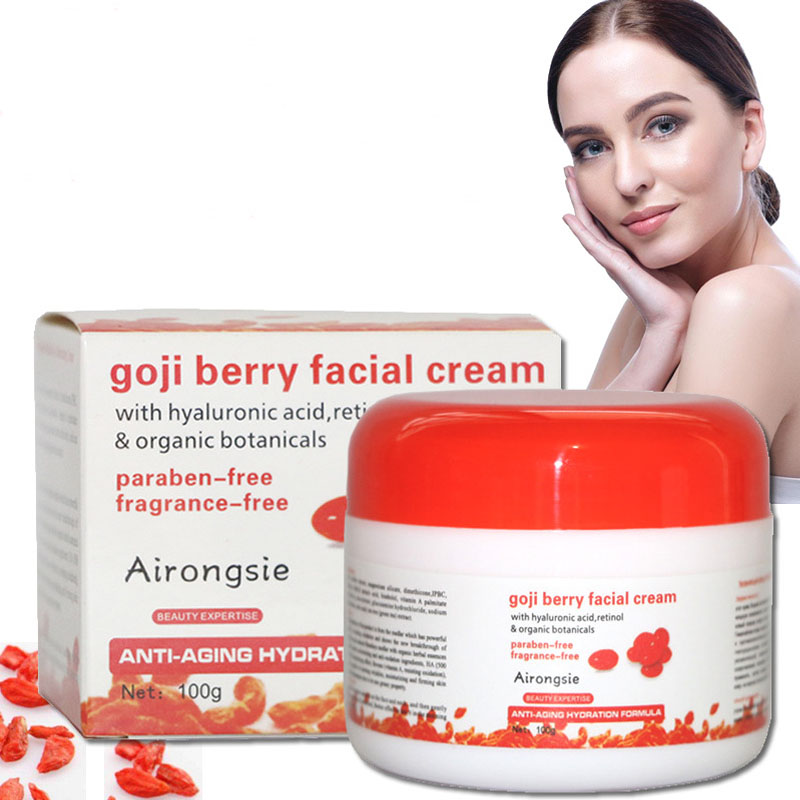 Wolfberry Cream Massage goji Berry Facial Cream Whitening Moisturizing Anti Wrinkle Vitmin A Anti-aging Cream Skin Care Relax argireline matrixyl 3000 peptide cream hyaluronic acid ha wrinkle collagen firm anti aging skin care equipment free shipping