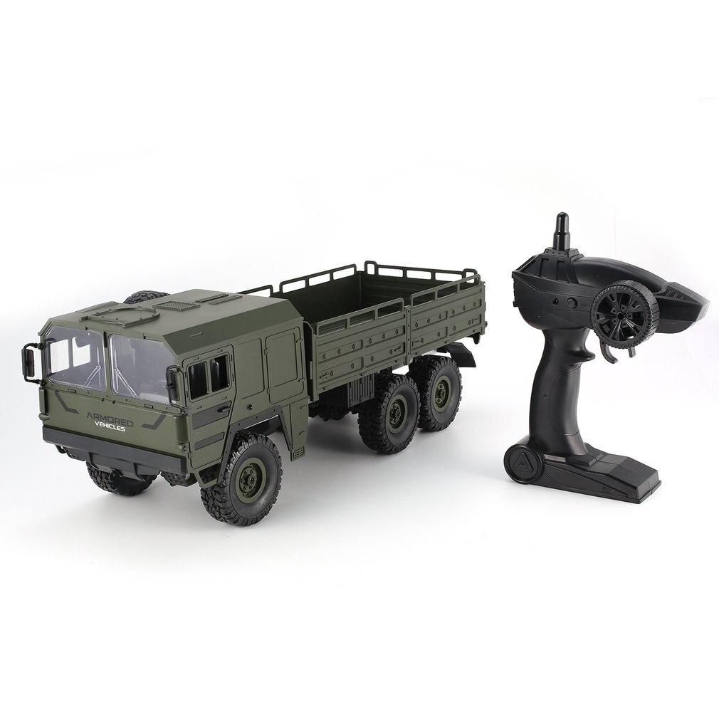 JJRC Q64 1/16 2.4G 6WD RC voiture camion militaire tout-terrain roche chenille RTR jouet 6 roues RC course camion jouets pour enfants cadeaux de noël