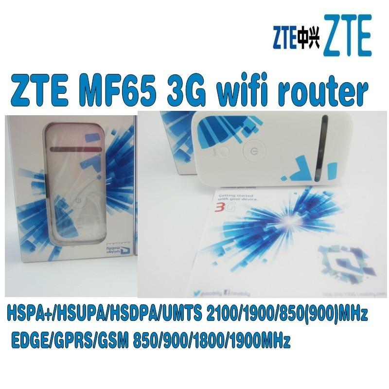 Unlocked ZTE MF65 Wireless Router WCDMA 2100/1900/850(900)MHz 21.6Mbps PK MF60