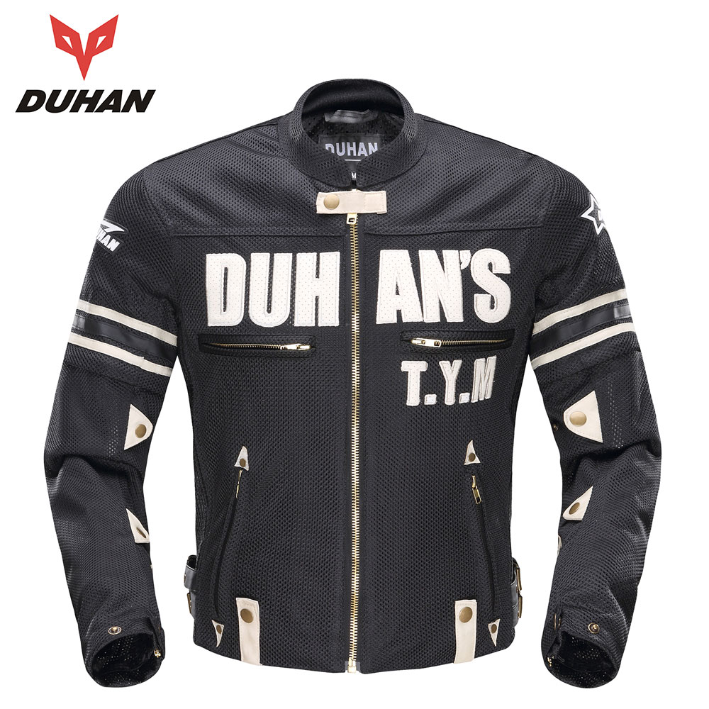 DUHAN Motorcycle Jackets Men Summer Guard Protection Racing Jacket Motocross Breathable Riding Jacket Professional Protector 2017motorcycle men s racing motocross jackets