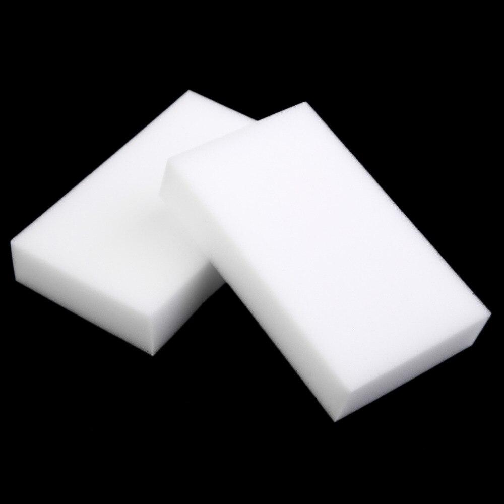 100pcs White Multi-functional Magic Sponge Eraser Cleaner 100 X 60 X 15mm Multi-Functional Kitchen Bathroom Garden Cleaning Tool