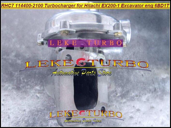 Wholesale RHC7 1-14400-2100 114400-2100 NH170048 Turbo Turbine Turbocharger For HITACHI EX200-1 Excavator Engine 6BD1T 6BD1-T