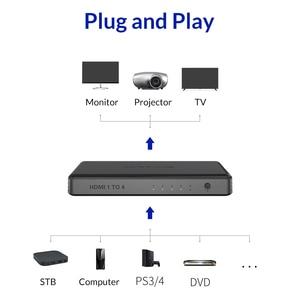 Image 5 - Divisor hd mi unnlink 1 x4 uhd4k @ 30hz, hd mi 1 em 4 para led smart tv monitor projetor mi box3 ps4 xbox one, computador