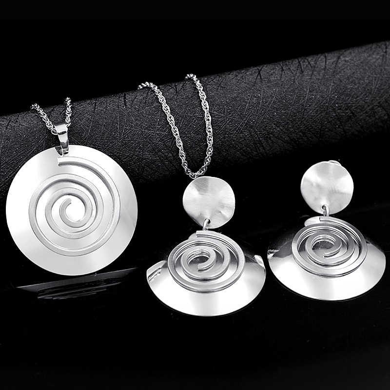 Bijoux ensoleillés ensembles de bijoux classiques pour femmes collier boucles d'oreilles pendentif ensembles de bijoux pour fête de mariage ensemble de bijoux rond résultats