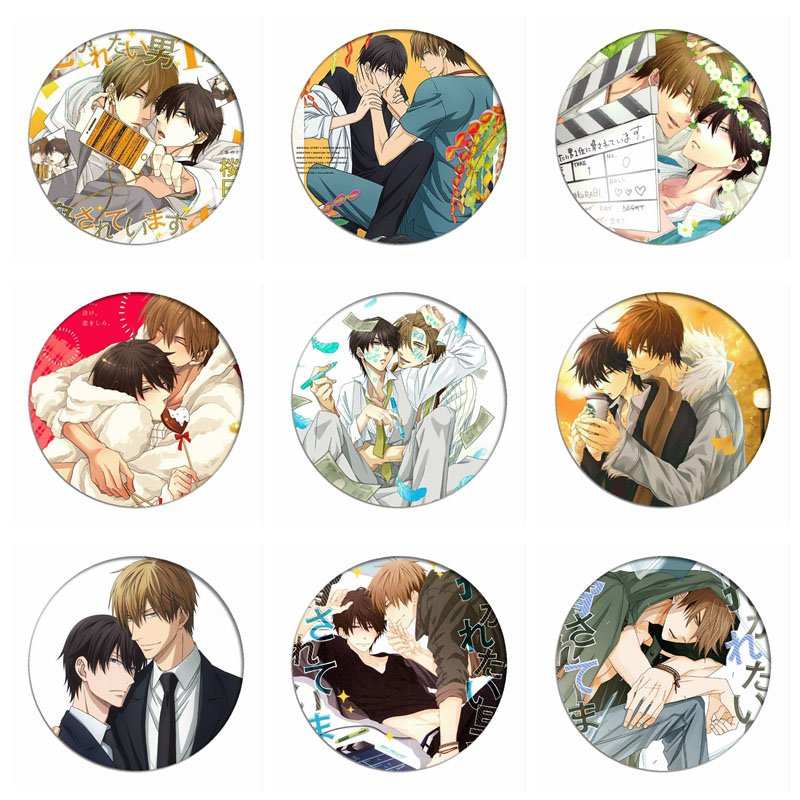 Dakaretai Otoko 1-i Ni Odosarete Imasu Cosplay Badges JYUNTA AZUMAYA Brooch Icon Collection Breastpin For Backpacks Clothing