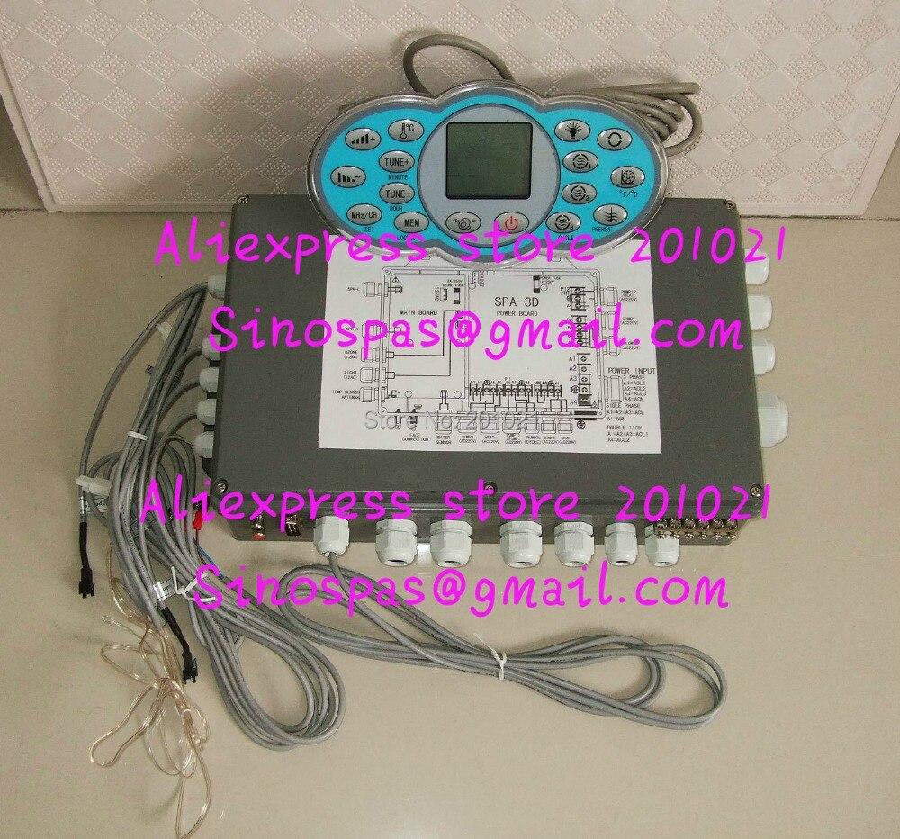 JNJ SPA Papillon contrôleur du spa pack KL8-2H-DISI affichage panneau + boîtier De Commande avec SPA-3D fit JNJ-816 spa-329 carte de puissance