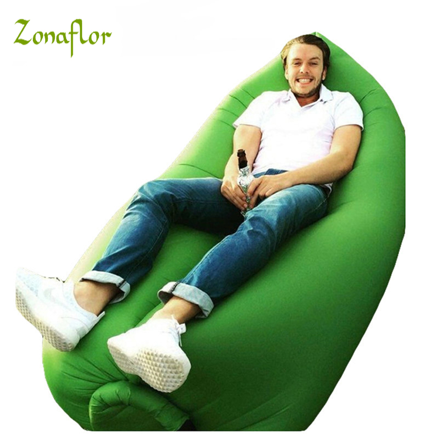 Zonaflor Lazy Inflatable Sofa Outdoor Beach Sleep Bed Home Garden Party Swimming Pool Float Waterproof Folding Inflatable Sofa недорого