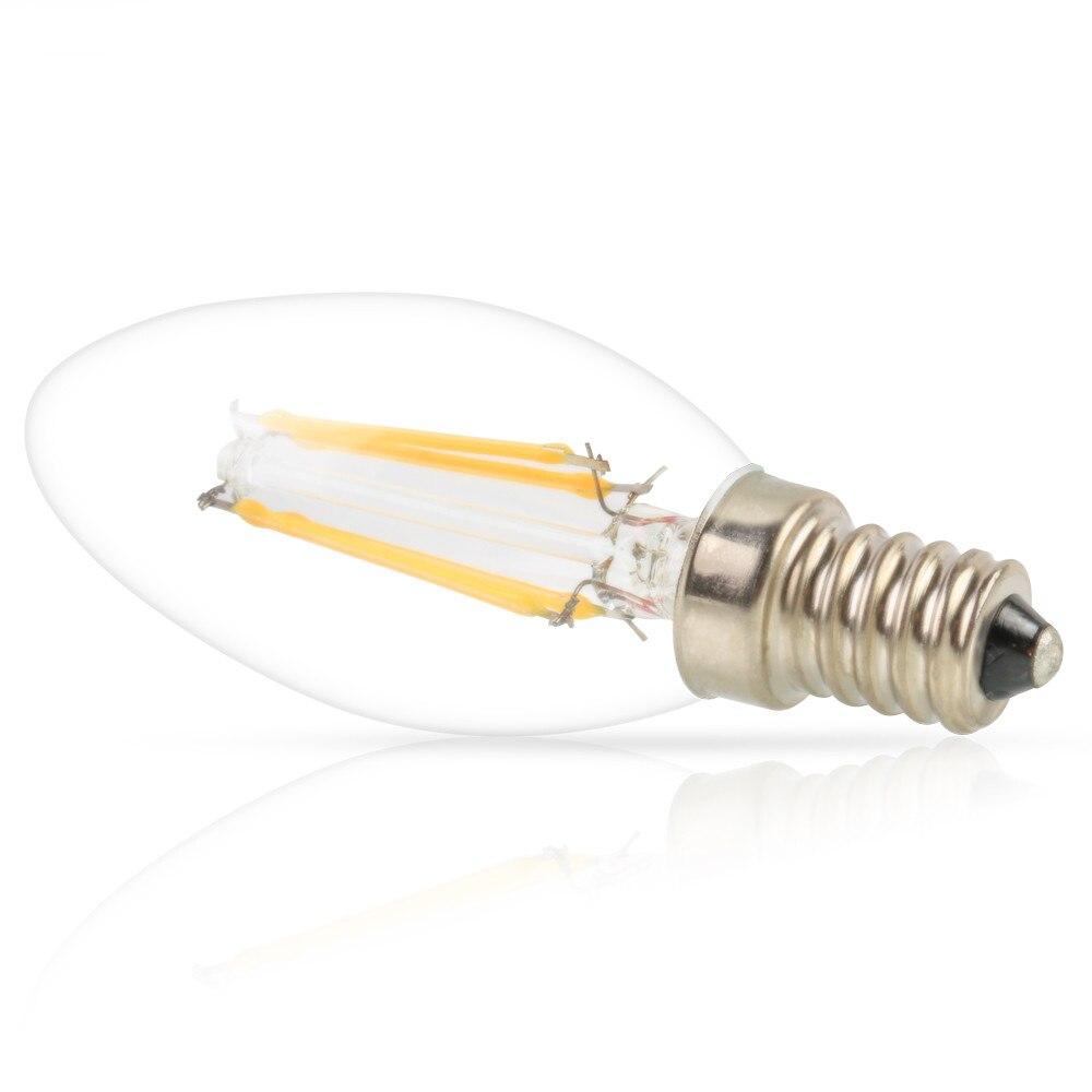 1x Energy Saving E14 Dimmable 4W 6W LED Candle Light 240V Vintage Edison LED Filament Lamps Chandelier LED Lighting Bulbs