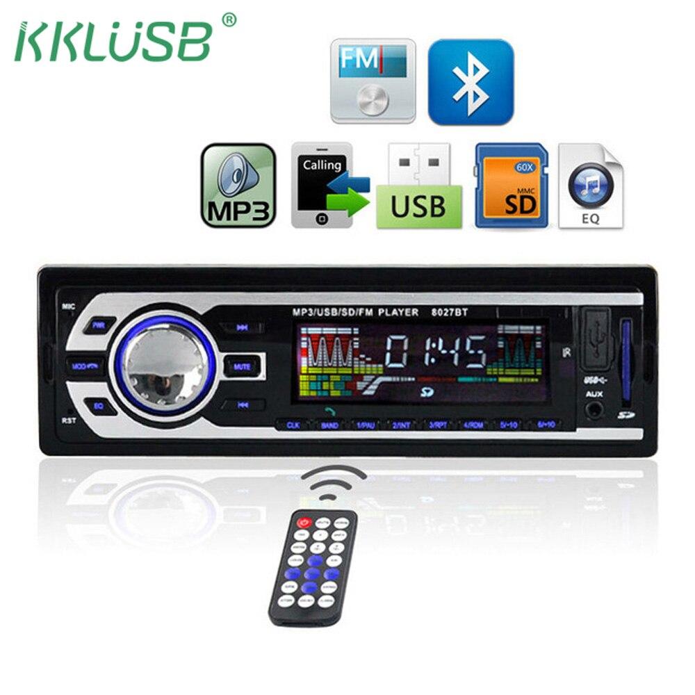 8027BT Bluetooth стерео в тире автомагнитолы 1 DIN FM USB AUX IN TF wma/wav mp3 автомобиля плеер ото teypleri автомобиля радио Para Карро