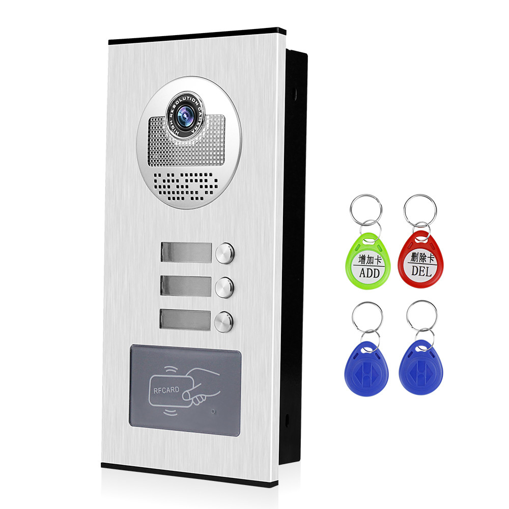 OBO Hands Video Door Phone Doorbell Camera Outdoor Unit RFID Keyfobs Unlock For Low-rise Building Multi 2/ 3/ 4/ 6/ 8 Apartments