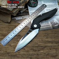 LCM66 Tactical Folding Knife D2 Steel G10 Handle Camping Outdoor Survival Knives Hunting Tools Very Sharp