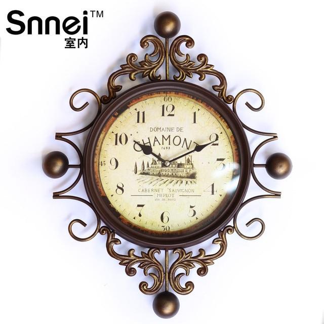 Snnei fer diamant horloge murale baroque européenne créative main ...