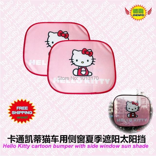 Envío libre Accesorios Del Coche de Hello Kitty dibujos animados parachoques con ventana lateral parasol Z-53