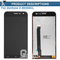 Original 5 inch Black Full LCD DIsplay + Touch Screen Digitizer Assembly For Asus ZenFone 2 ZE500CL Z00D