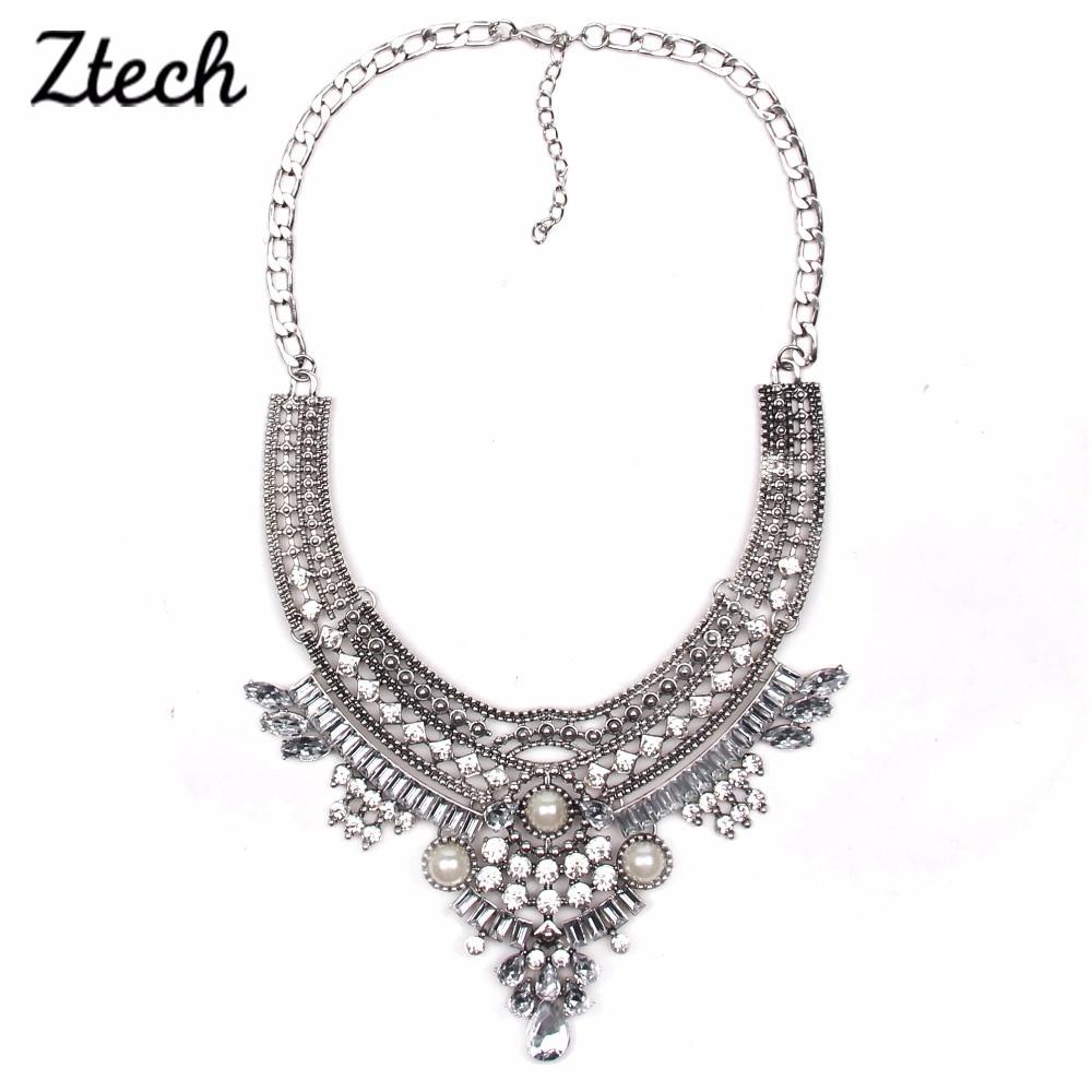 Ztech fashion design bridal jewelry simulated pearl necklace women ztech fashion design bridal jewelry simulated pearl necklace women bib collar chokers statement necklaces pendants aloadofball Images