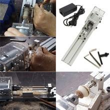 DC 24V 80W Mini Lathe Beads Machine Woodwork DIY Lathe Standard Set + Power Supply