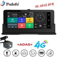 Podofo Car DVR GPS Navigation Dashcam 7 4G ADAS Touch Car Camera WiFi Bluetooth FHD DVRs