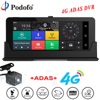 Podofo Car DVR GPS Navigation Dashcam 7 4G ADAS Touch Car Camera WiFi Bluetooth FHD DVRs
