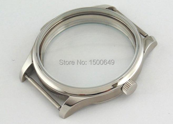 c6e22221ee5 Caso Parnis aço inoxidável 44mm fit 6497 6498 ST36 movimento ...