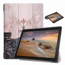 Slim Magnetic Cover Case For Lenovo Tab E10 TB-X104F TB-X104L PU Leather Tablet Stand Cover For Lenovo Tab e10 10.1 inch Case цена 2017