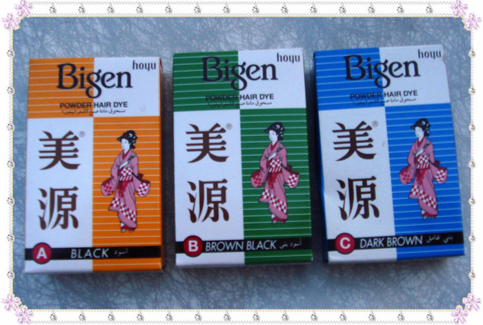 все цены на Bigen Permanent Hair Dye Powder No Ammonia No Hydrogen A Black B Brown Black C Dark Brown HA01 онлайн