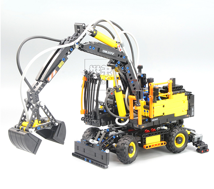 LEPIN 20023 Technical Ultimate Series The Ew160e Excavator Set Educational Building Blocks Bricks Boys Toys Gift Model 42053 new technical excavator duplo toys large
