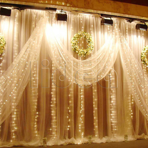 3M*3M 300 LED Wedding Garden New Year String Icicle Outdoor Waterfall Fairy Decoration Curtain Christmas Garland Light CN C-38