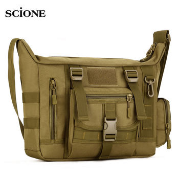 14 Inch Laptop Shoulder bag Men's Backpack A4 Document Tactical Military Molle Messenger Sport Crosscody Bags Sling Pack XA458WA