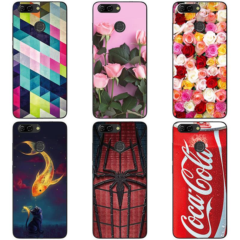 Soft Silicon phone case cover For ZTE Blade V9 Vita  phone shell Colorful printing design Painted Soft TPU case shell Flower