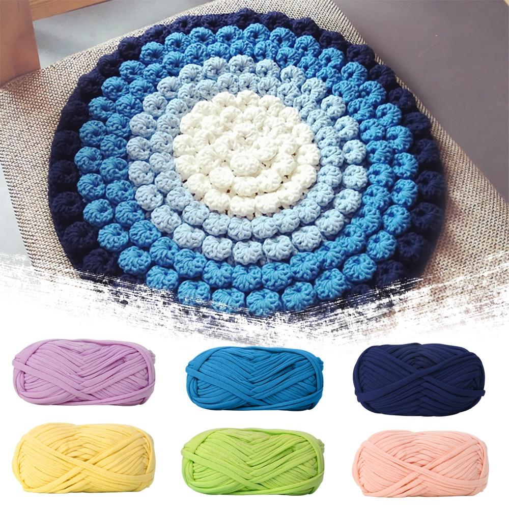 1 Ball 100g Woolen Yarn DIY Knitting Wool for Rugs Woven Thread Cotton Cloth Yarn Hand Crocheted Basket Fancy Yarn Fabric 1