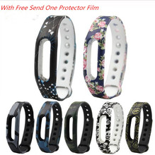 silicone strap band Camouflage band replacement for xiaomi mi band 2 smart band bracelet Multi color for choose