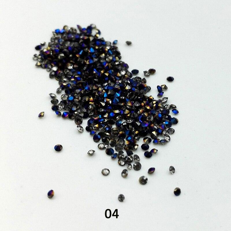 450Pcs / Box 1.2mm Mikro Nagų Kalnų krištolas Zircon Mini Aštrių - Nagų menas - Nuotrauka 5