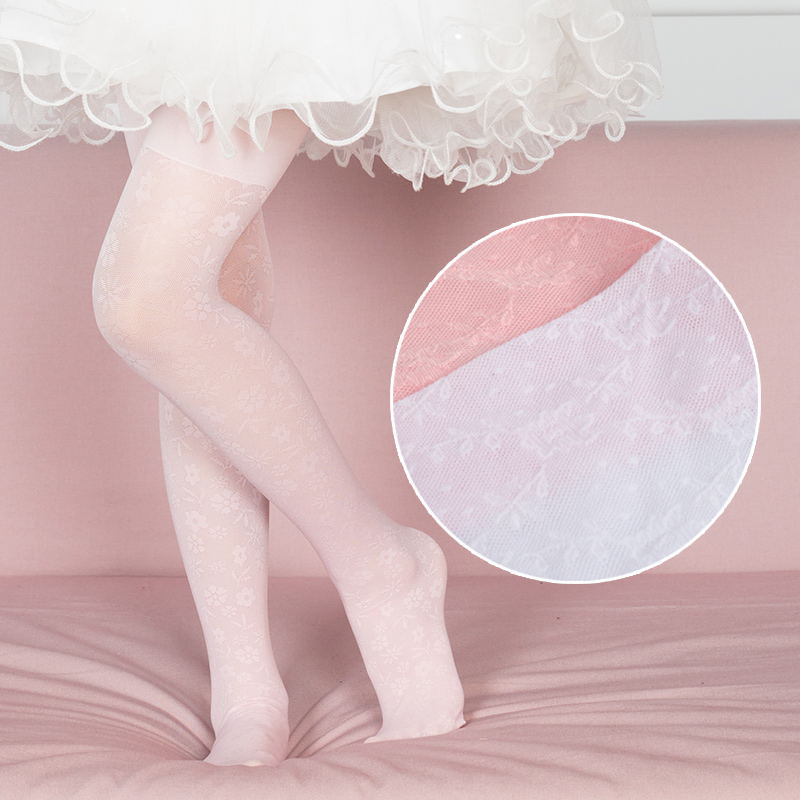 Lace Flower Summer Children Baby Girl Tights Stockings Kids Pantyhose Girls Stockings For Wedding Party Dance Tights For 0-9T heart pattern side pantyhose stockings