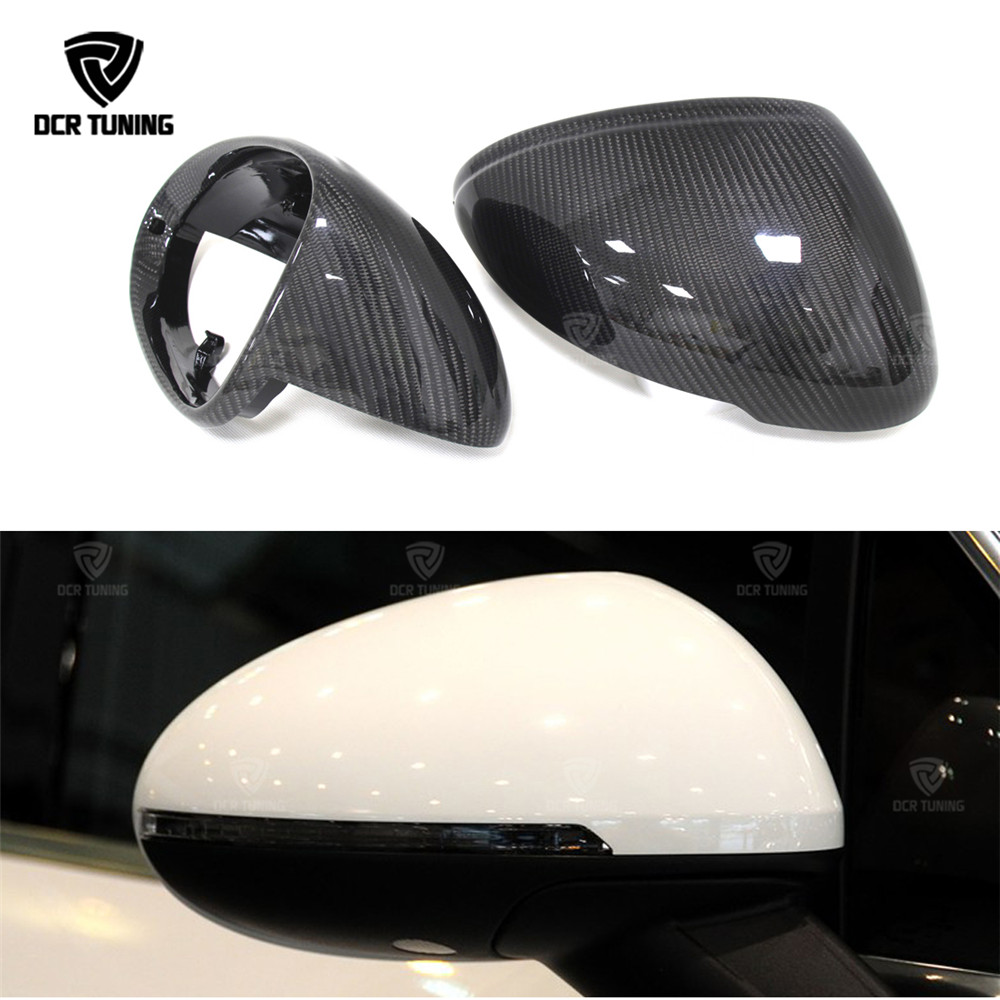 Replacement Style carbon fiber caps For Porsche Macan Carbon Fiber side Mirror Cover 2014 2015