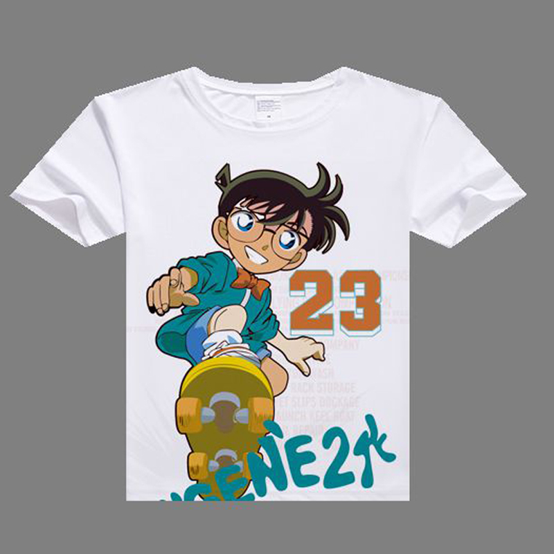 2017 anime casual tshirt Detective Conan Cosplay T shirt digital printed Detective Conan t-shirt  men Case Closed shirt