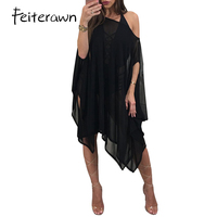 Feiterawn 2017 High quality slim temperate fashion casual dress black white lace dress sexy women club dress MN8155
