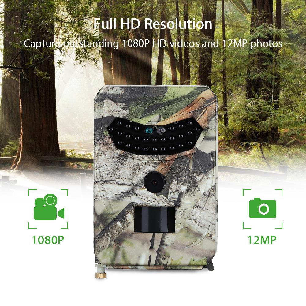 12MP 1080P Hunting Camera Chasse with 26PCS Night Vision Infrared Motion Detection Game Camera Trail Camera Chasse Surveillance 8 led flashing yellow light caution warning lamp with magnetic mount holder