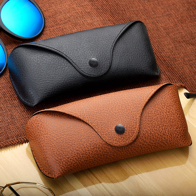 Fashion Women Portable Glasses Case Magnetic Leather Foldable Glasses Box Eyeglass Sunglasses Box Fashion Eyewear Accessories
