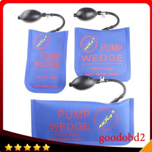 Professionnel Verrouillage Choisissez Outil De Diagnostic KLOM pompe à Air wedge airbag SERRURIER OUTILS de véhicule de déverrouillage de porte de voiture outil 3 pcs/lot bleu