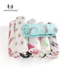 Муслиновое детское Пеленальное Одеяло из 100% хлопка для новорожденных