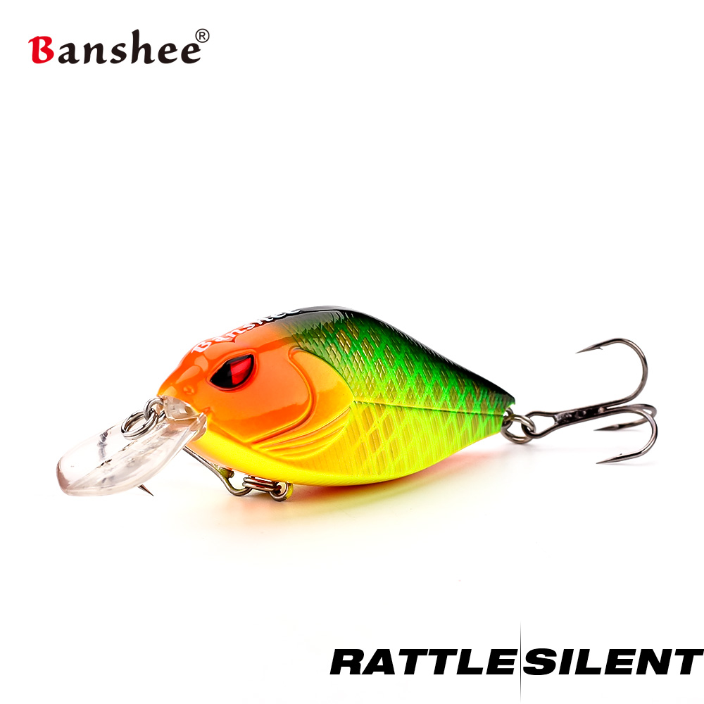 Banshee 58mm 9g Crankbait Fishing Lure Bass Mini Wobbler For Pike Crank Bait Fishing  Float Artificial Baits  Rattle Sound Lures