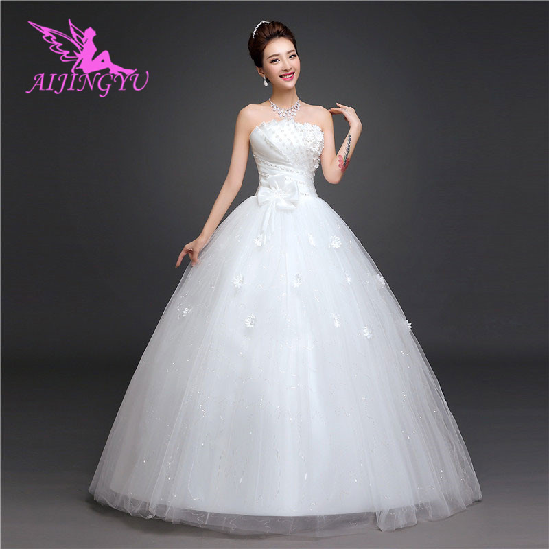 AIJINGYU 2018 sexy free shipping new hot selling cheap ball gown lace up back formal bride
