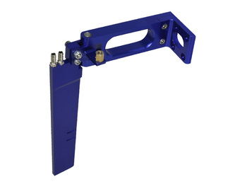 CPV 62101B Large Blue Aluminum Rudder RC Boat parts wholesale Free shipping