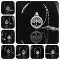 Deluxe My Coin Necklaces 33mm Tree of Life Coin Disc Fit 35mm Crystal Holder Pendant Necklaces Women Jewelry Locket Necklace